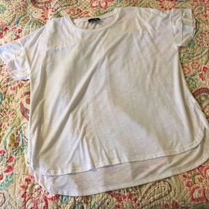Suzanne Betro White Short Sleeved Top